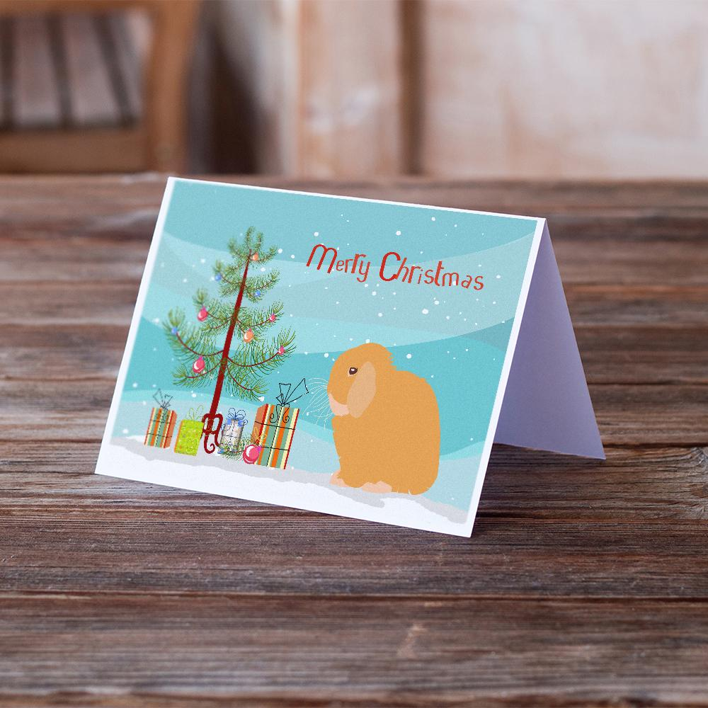 Buy this Holland Lop Rabbit Christmas Greeting Cards and Envelopes Pack of 8
