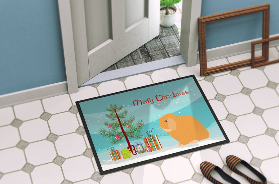 Buy this Holland Lop Rabbit Christmas Indoor or Outdoor Mat 24x36 BB9335JMAT