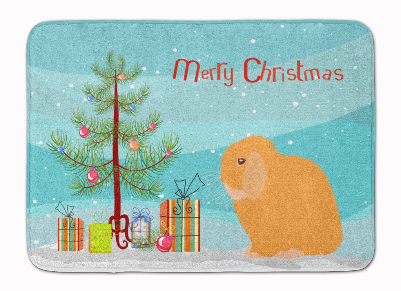 Holland Lop Rabbit Christmas Machine Washable Memory Foam Mat BB9335RUG by Caroline's Treasures