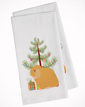 Buy this Holland Lop Rabbit Christmas White Kitchen Towel Set of 2 BB9335WTKT