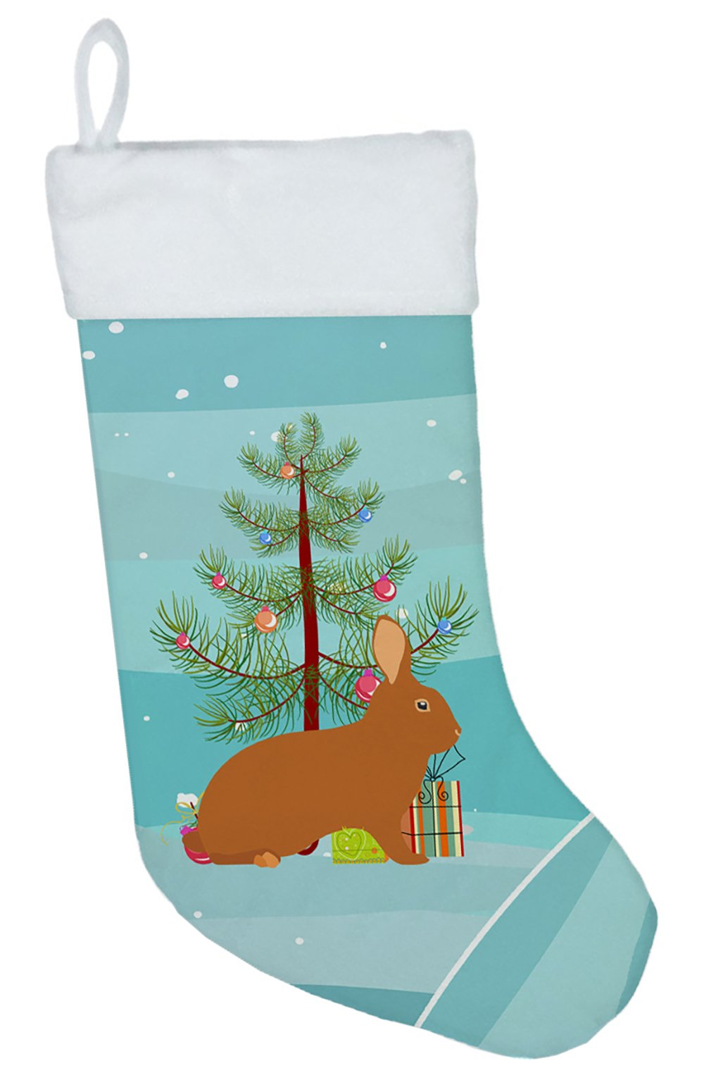 Rex Rabbit Christmas Christmas Stocking BB9336CS by Caroline's Treasures