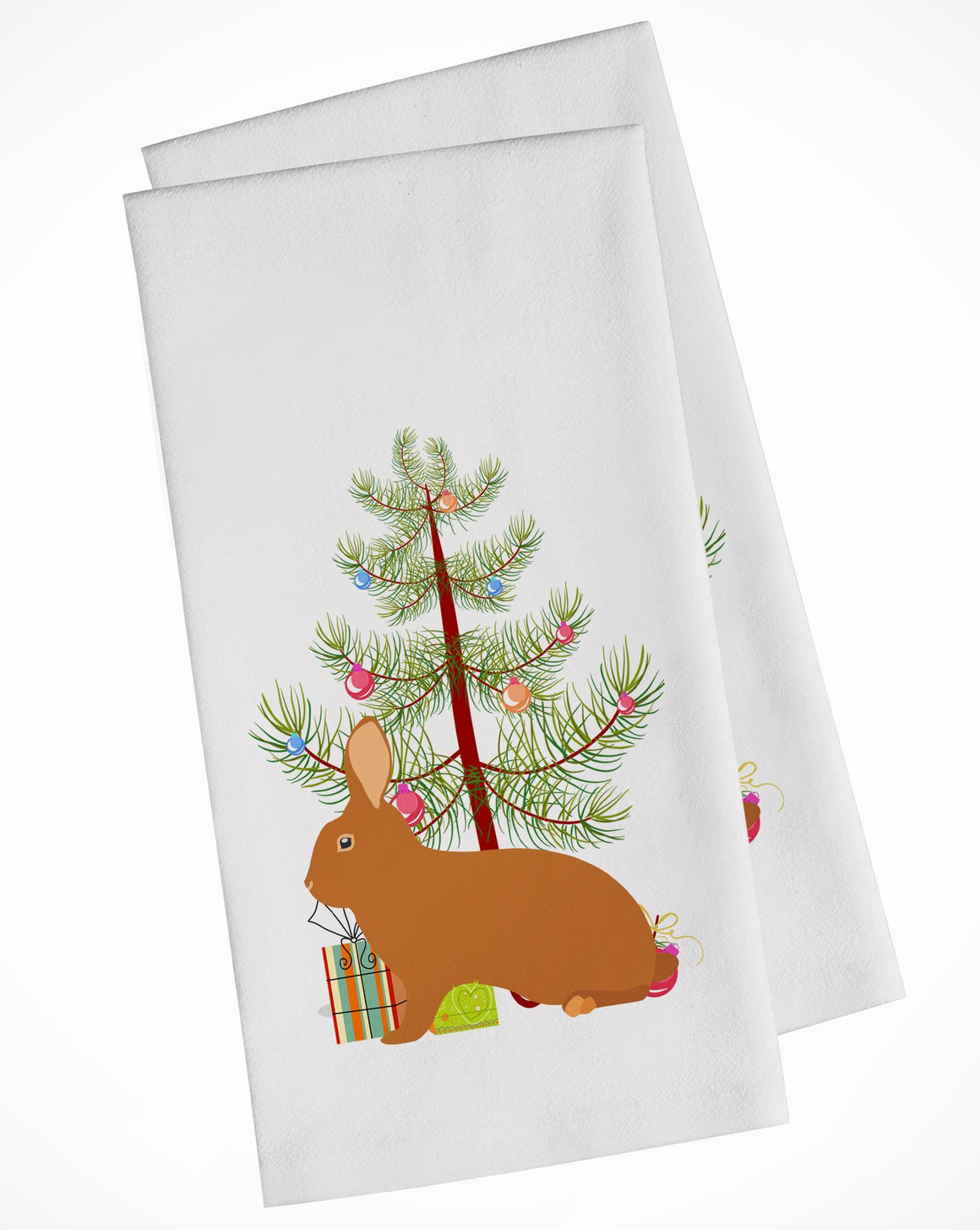 Buy this Rex Rabbit Christmas White Kitchen Towel Set of 2 BB9336WTKT