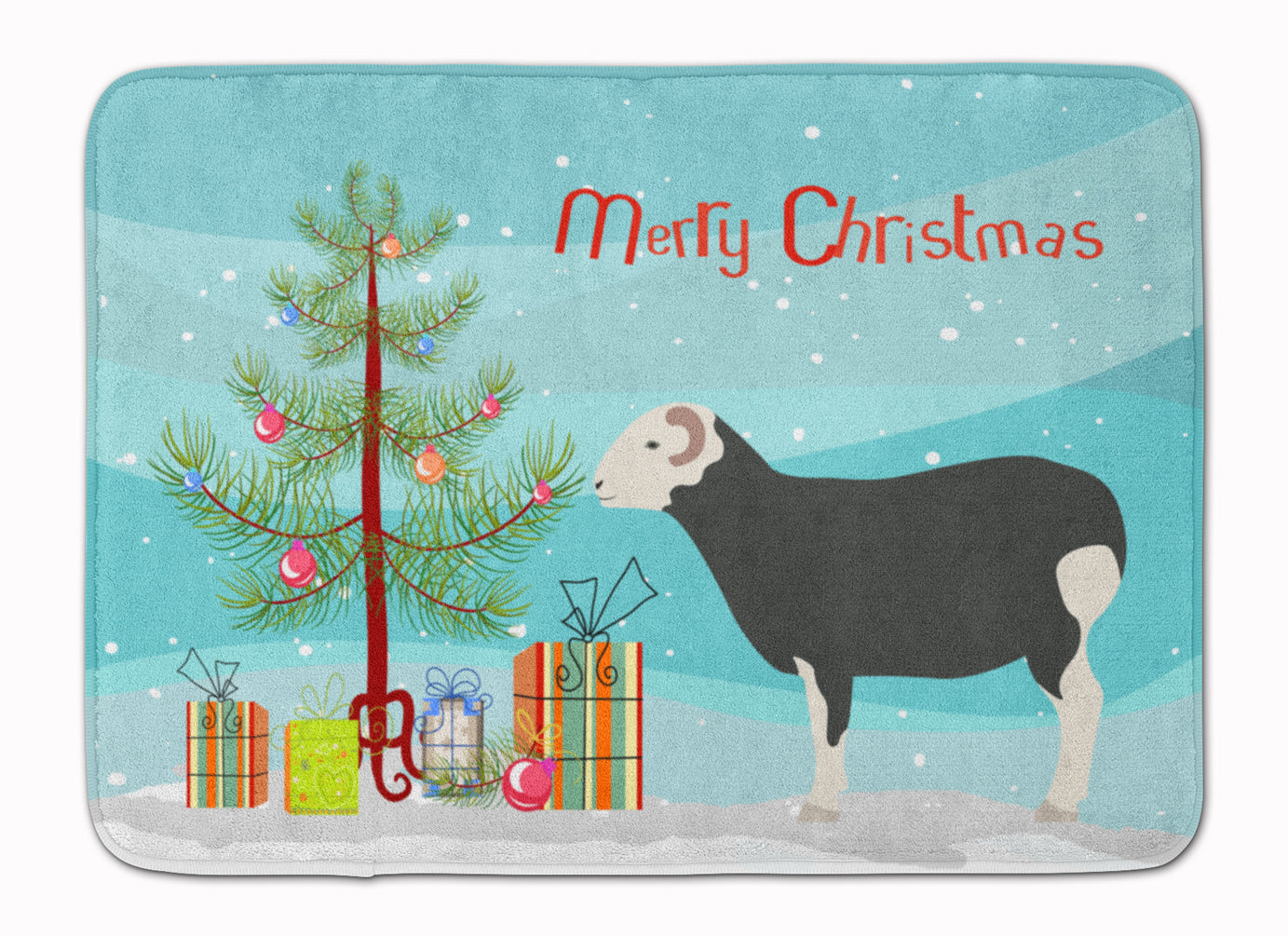 Herwick Sheep Christmas Machine Washable Memory Foam Mat BB9337RUG by Caroline's Treasures