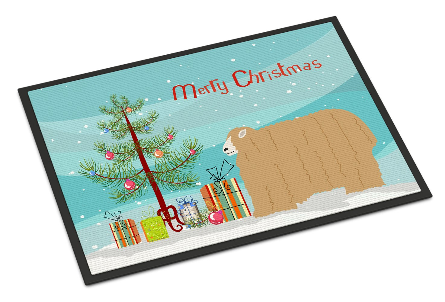 Lincoln Longwool Sheep Christmas Indoor or Outdoor Mat 24x36 BB9338JMAT by Caroline's Treasures