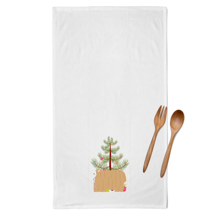 Buy this Lincoln Longwool Sheep Christmas White Kitchen Towel Set of 2 BB9338WTKT