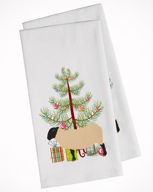 Buy this Suffolk Sheep Christmas White Kitchen Towel Set of 2 BB9339WTKT