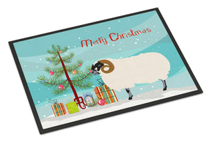 Buy this Scottish Blackface Sheep Christmas Indoor or Outdoor Mat 24x36 BB9340JMAT