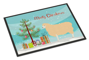 Buy this English Leicester Longwool Sheep Christmas Indoor or Outdoor Mat 24x36 BB9341JMAT