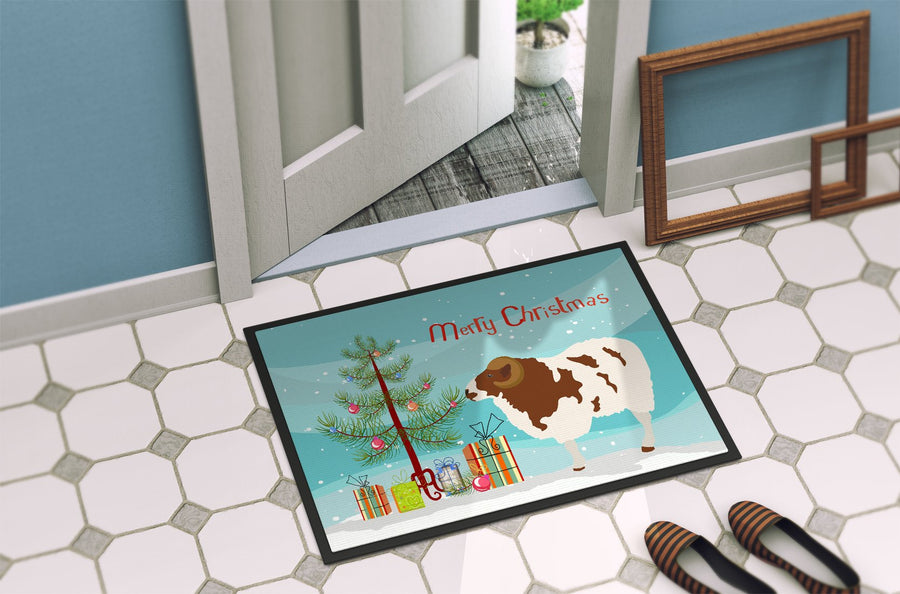 Buy this Jacob Sheep Christmas Indoor or Outdoor Mat 24x36 BB9342JMAT