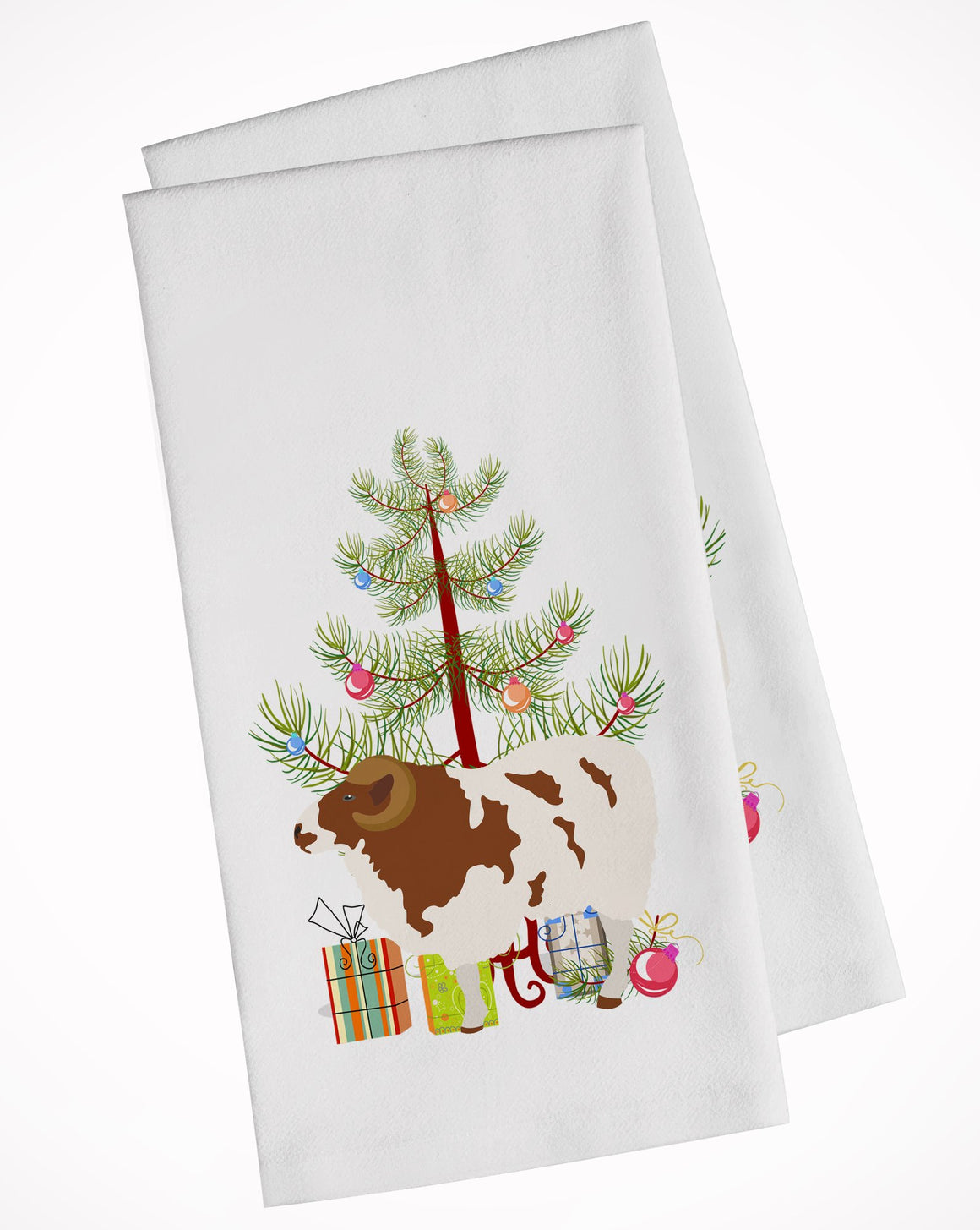 Buy this Jacob Sheep Christmas White Kitchen Towel Set of 2 BB9342WTKT