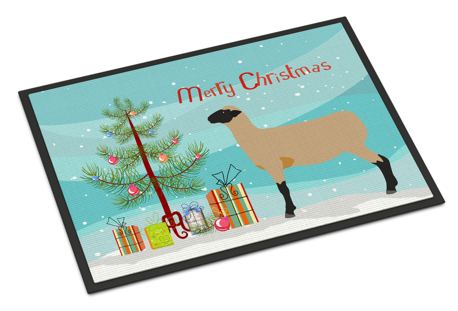Hampshire Down Sheep Christmas Indoor or Outdoor Mat 18x27 BB9343MAT by Caroline's Treasures