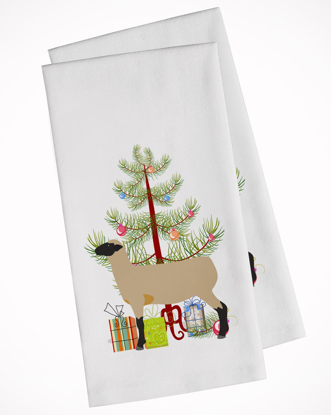 Buy this Hampshire Down Sheep Christmas White Kitchen Towel Set of 2 BB9343WTKT