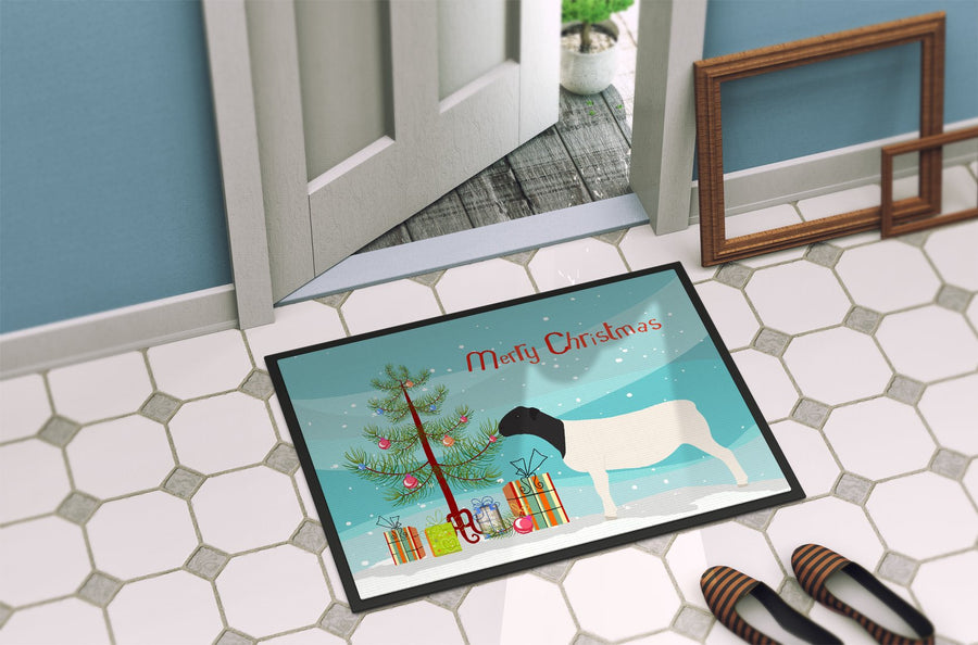 Buy this Dorper Sheep Christmas Indoor or Outdoor Mat 24x36 BB9345JMAT