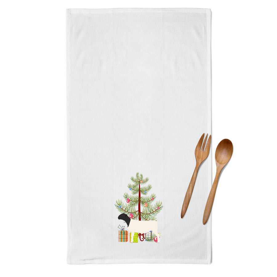 Buy this Dorper Sheep Christmas White Kitchen Towel Set of 2 BB9345WTKT
