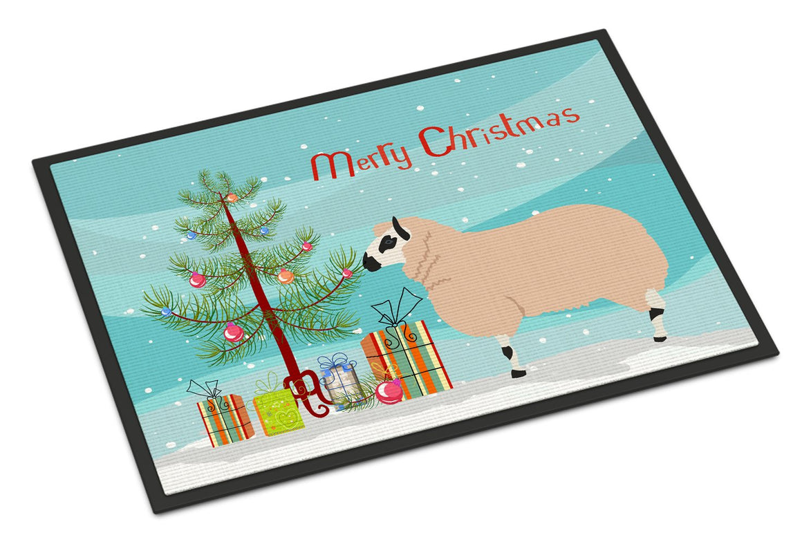 Buy this Kerry Hill Sheep Christmas Indoor or Outdoor Mat 24x36 BB9346JMAT