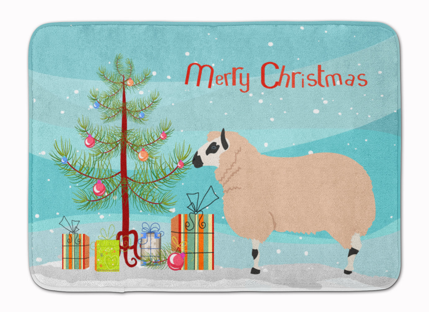 Kerry Hill Sheep Christmas Machine Washable Memory Foam Mat BB9346RUG by Caroline's Treasures
