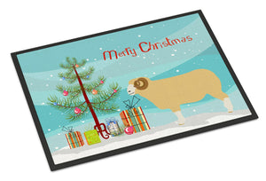 Buy this Horned Dorset Sheep Christmas Indoor or Outdoor Mat 24x36 BB9347JMAT