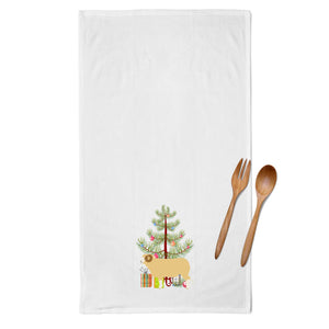 Horned Dorset Sheep Christmas White Kitchen Towel Set of 2 BB9347WTKT
