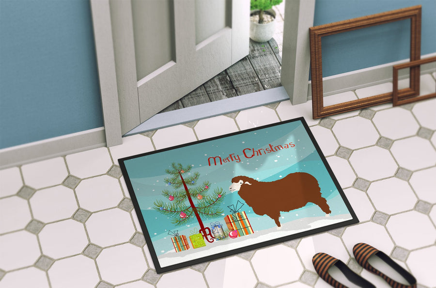 Buy this Merino Sheep Christmas Indoor or Outdoor Mat 24x36 BB9348JMAT