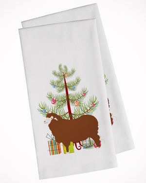 Buy this Merino Sheep Christmas White Kitchen Towel Set of 2 BB9348WTKT