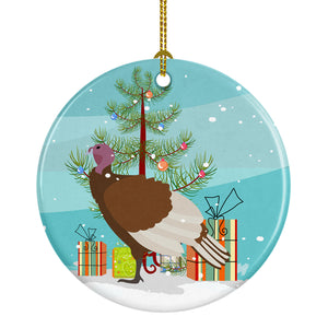Buy this Bourbon Red Turkey Hen Christmas Ceramic Ornament BB9349CO1