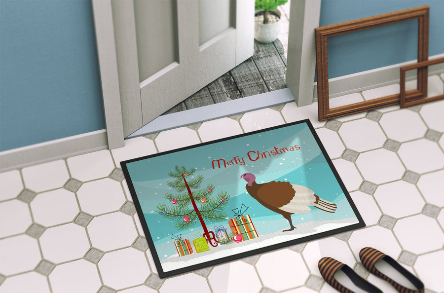 Buy this Bourbon Red Turkey Hen Christmas Indoor or Outdoor Mat 24x36 BB9349JMAT
