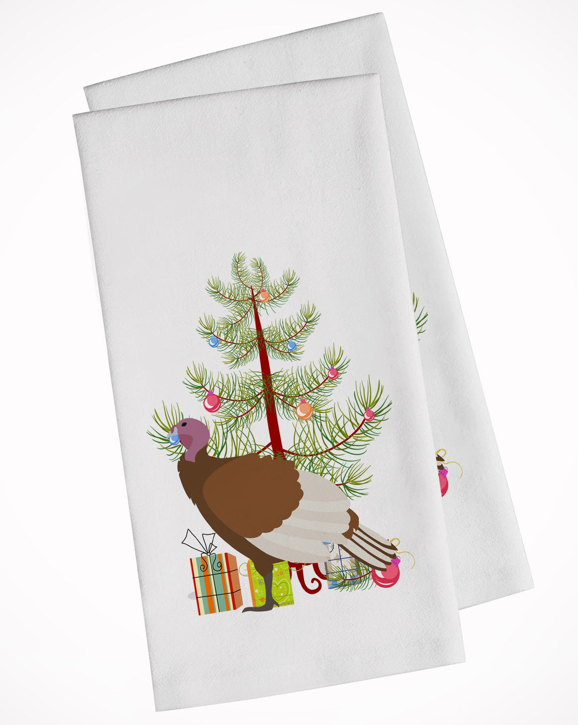 Buy this Bourbon Red Turkey Hen Christmas White Kitchen Towel Set of 2 BB9349WTKT