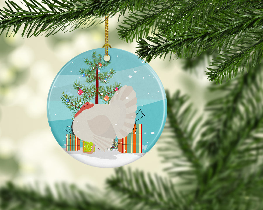 Buy this White Holland Turkey Christmas Ceramic Ornament BB9350CO1