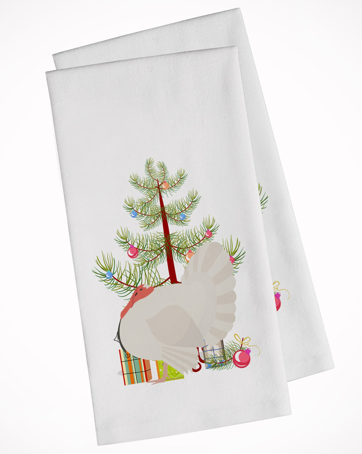 Buy this White Holland Turkey Christmas White Kitchen Towel Set of 2 BB9350WTKT