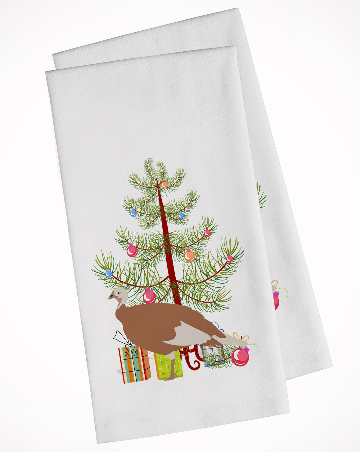 Buy this Jersey Buff Turkey Hen Christmas White Kitchen Towel Set of 2 BB9351WTKT