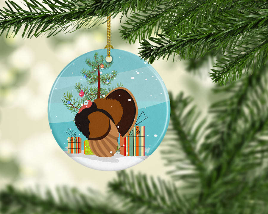 Buy this Bronze Turkey Christmas Ceramic Ornament BB9353CO1
