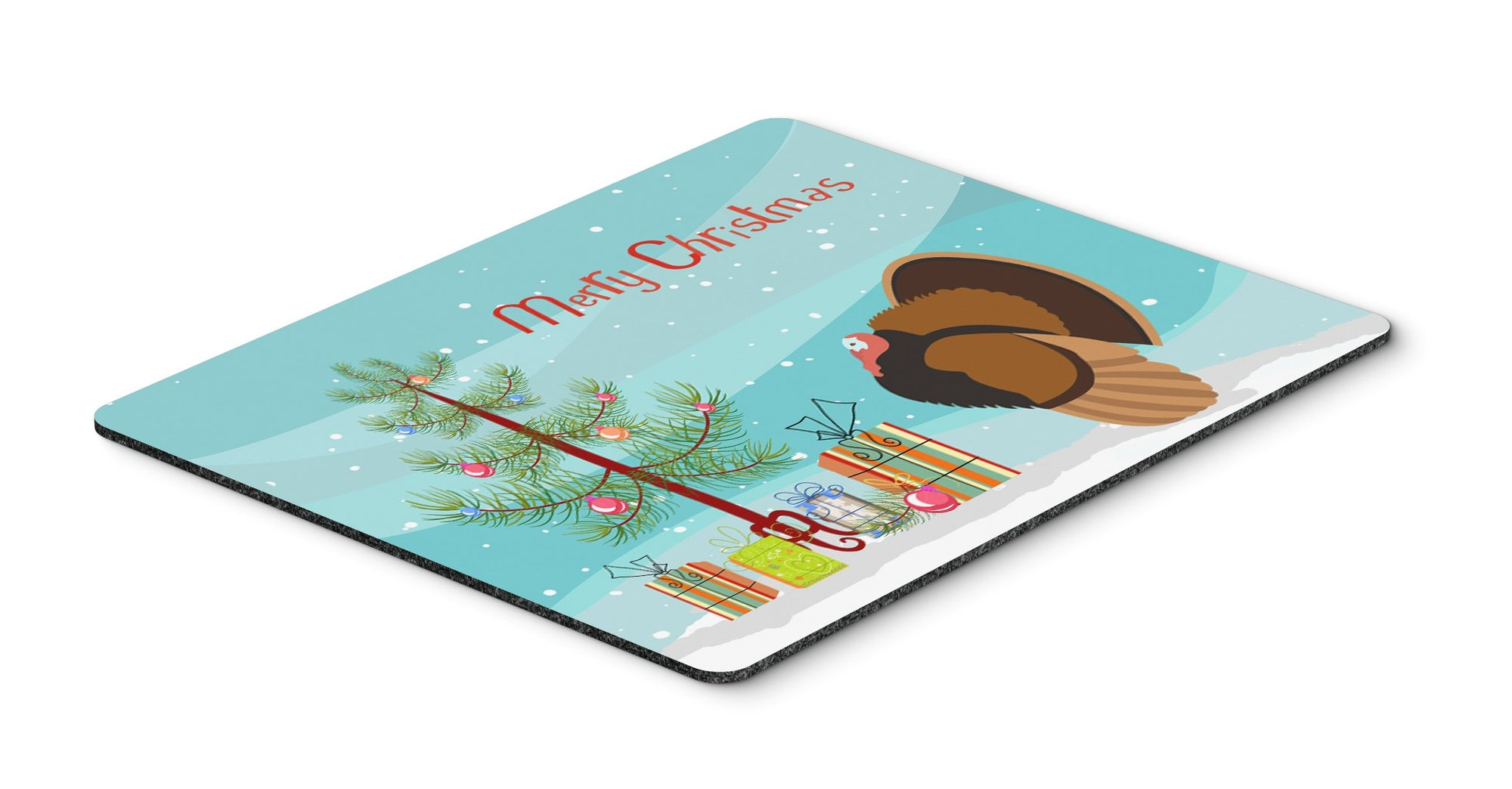 Bronze Turkey Christmas Mouse Pad, Hot Pad or Trivet BB9353MP by Caroline's Treasures