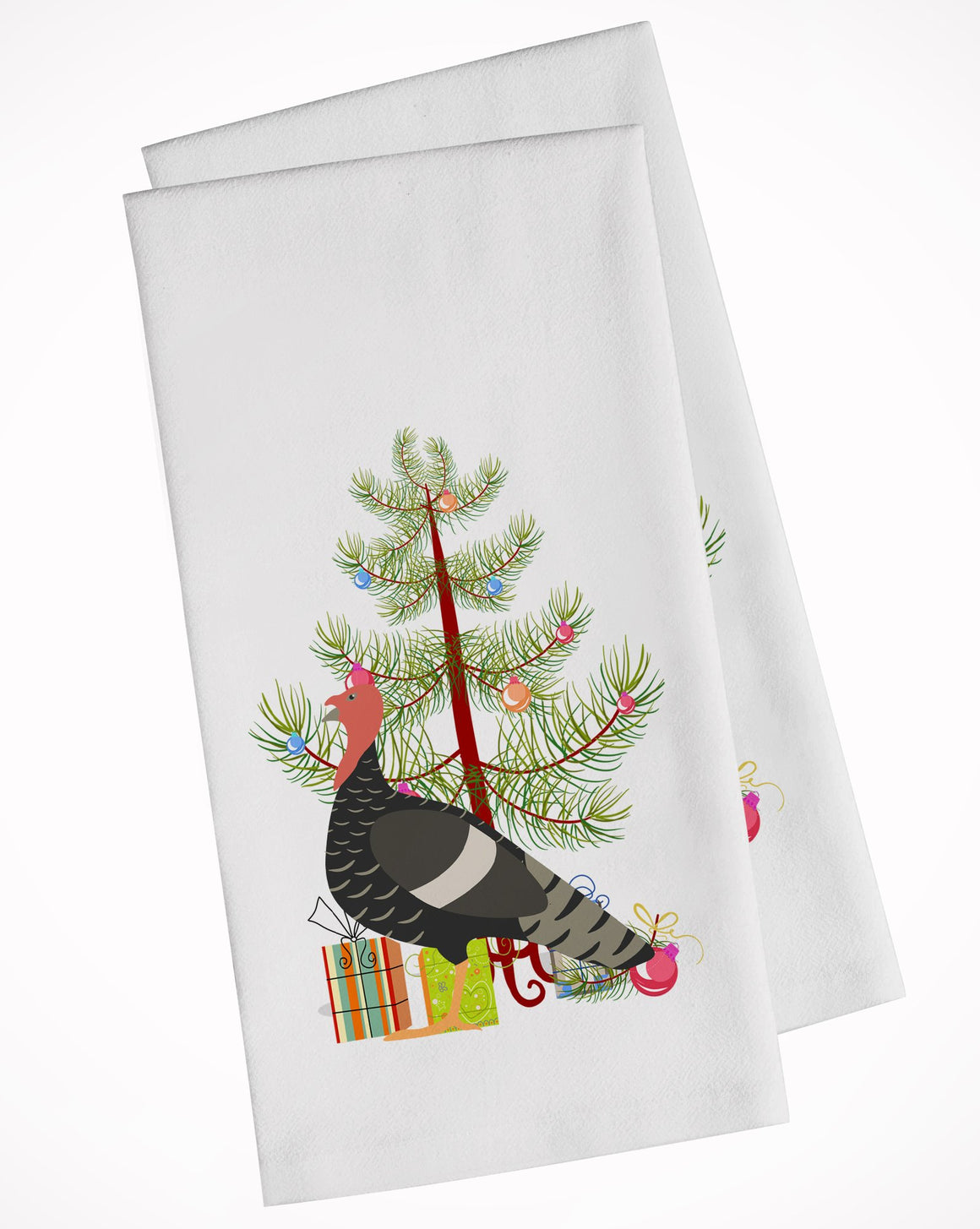 Buy this Marragansett Turkey Christmas White Kitchen Towel Set of 2 BB9354WTKT