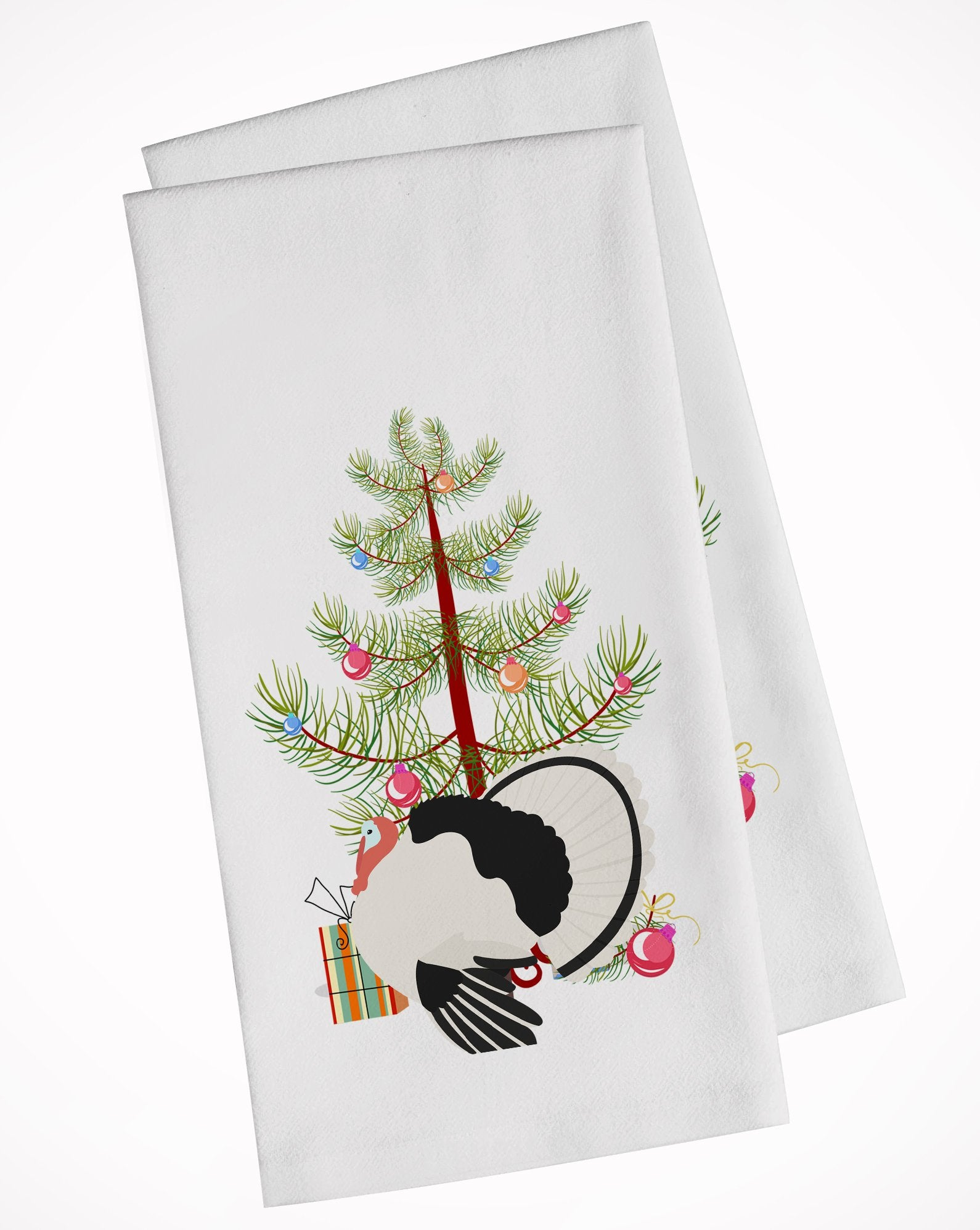 Royal Palm Turkey Christmas White Kitchen Towel Set of 2 BB9355WTKT by Caroline's Treasures