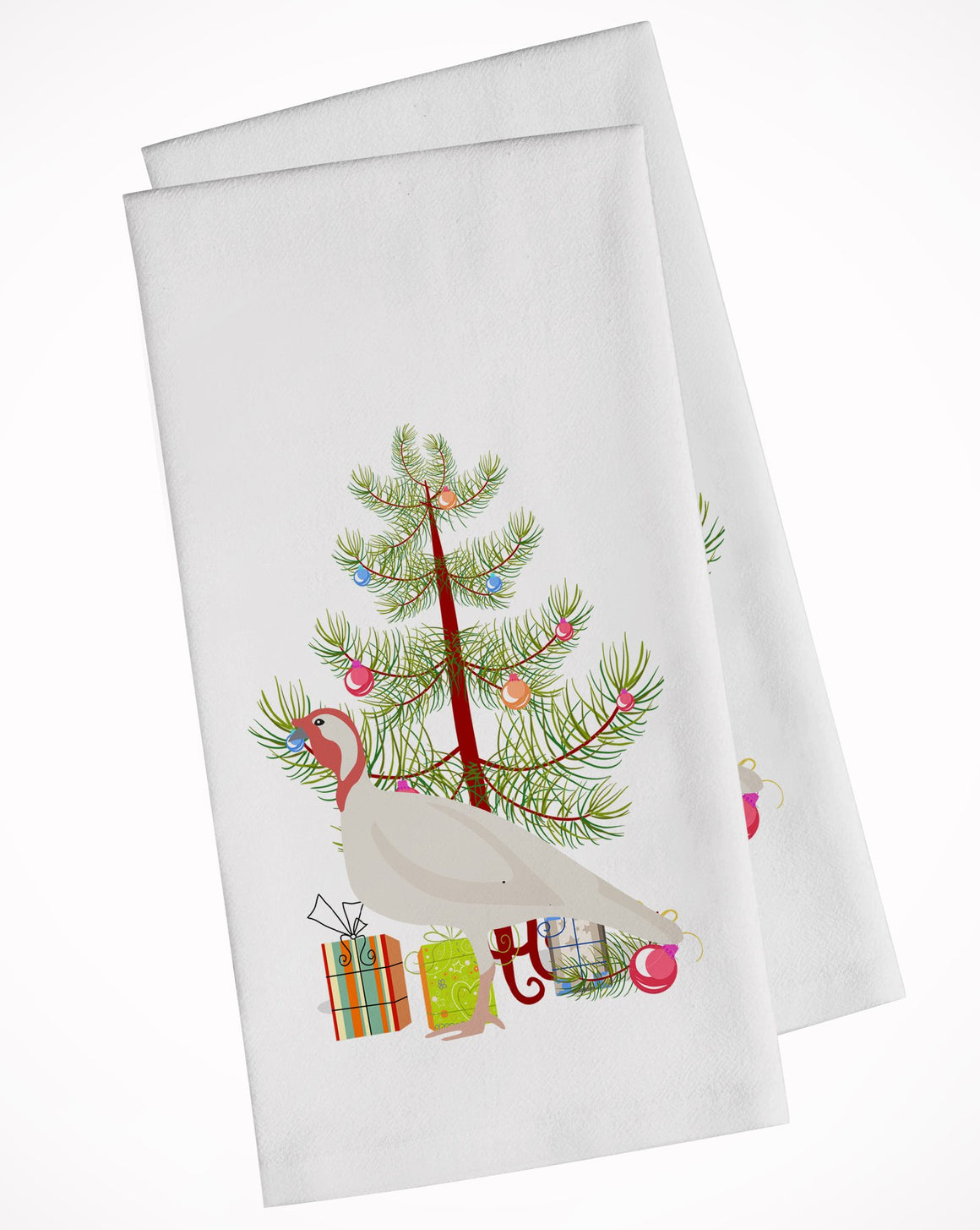 Buy this Beltsville Small White Turkey Hen Christmas White Kitchen Towel Set of 2 BB9356WTKT
