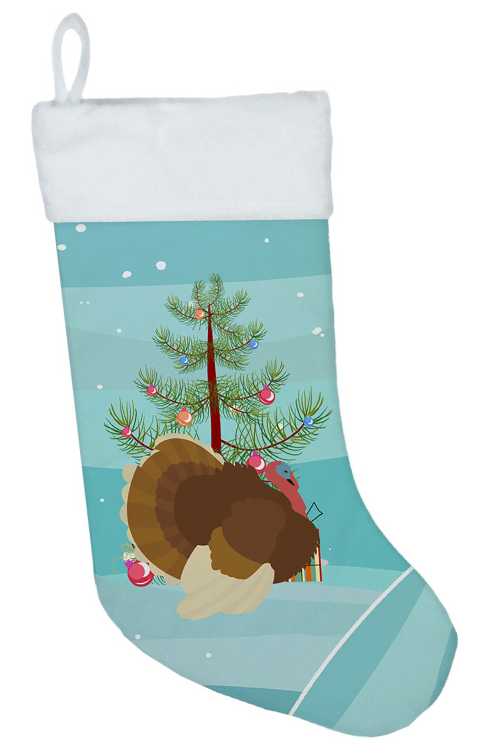French Turkey Dindon Christmas Christmas Stocking BB9357CS by Caroline's Treasures