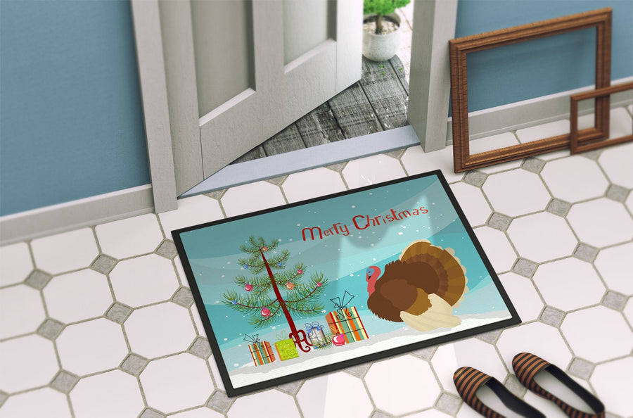 Buy this French Turkey Dindon Christmas Indoor or Outdoor Mat 24x36 BB9357JMAT