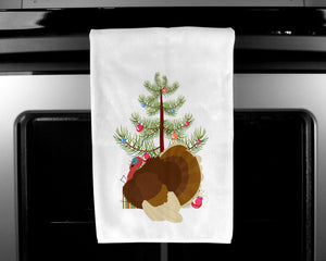 French Turkey Dindon Christmas White Kitchen Towel Set of 2 BB9357WTKT