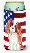 Blenheim Cavalier Spaniel Patriotic Tall Boy Beverage Insulator Hugger BB9358TBC by Caroline's Treasures