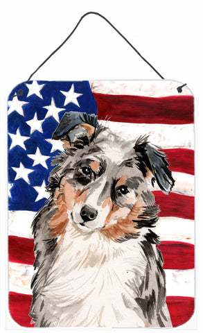 Buy this Australian Shepherd Patriotic Wall or Door Hanging Prints BB9362DS1216