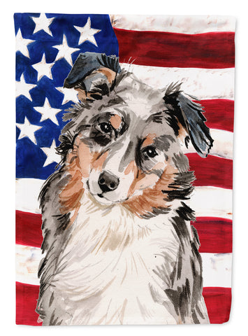 Buy this Australian Shepherd Patriotic Flag Garden Size BB9362GF