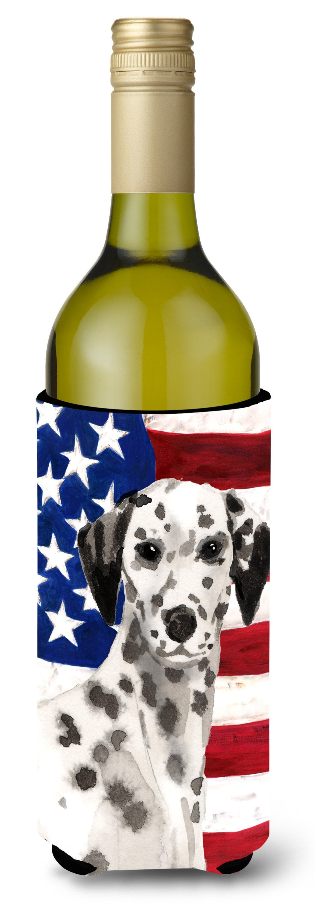 Dalmatian Patriotic Wine Bottle Beverge Insulator Hugger BB9380LITERK by Caroline's Treasures