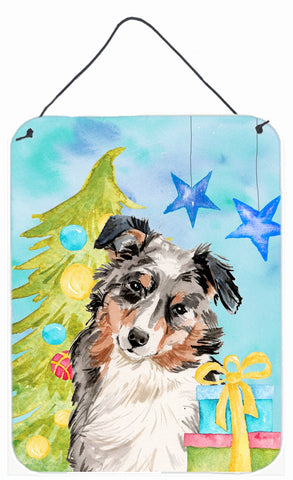 Buy this Australian Shepherd Christmas Wall or Door Hanging Prints BB9397DS1216