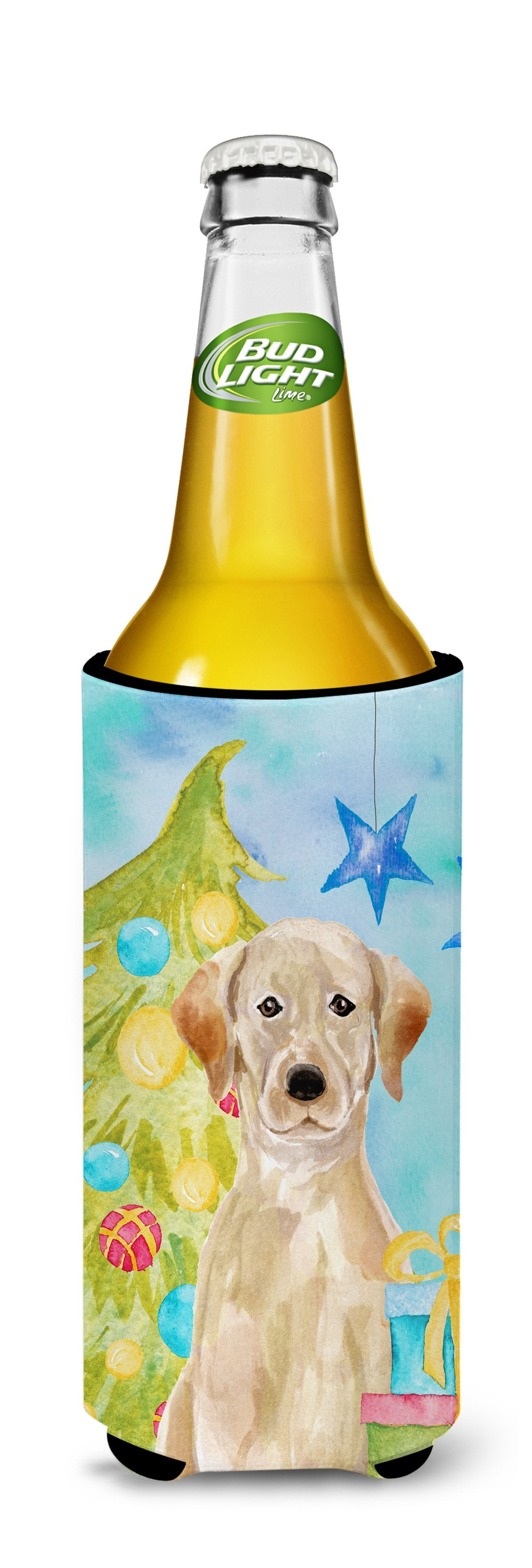 Yellow Labrador Christmas Michelob Ultra Hugger for slim cans BB9401MUK by Caroline's Treasures