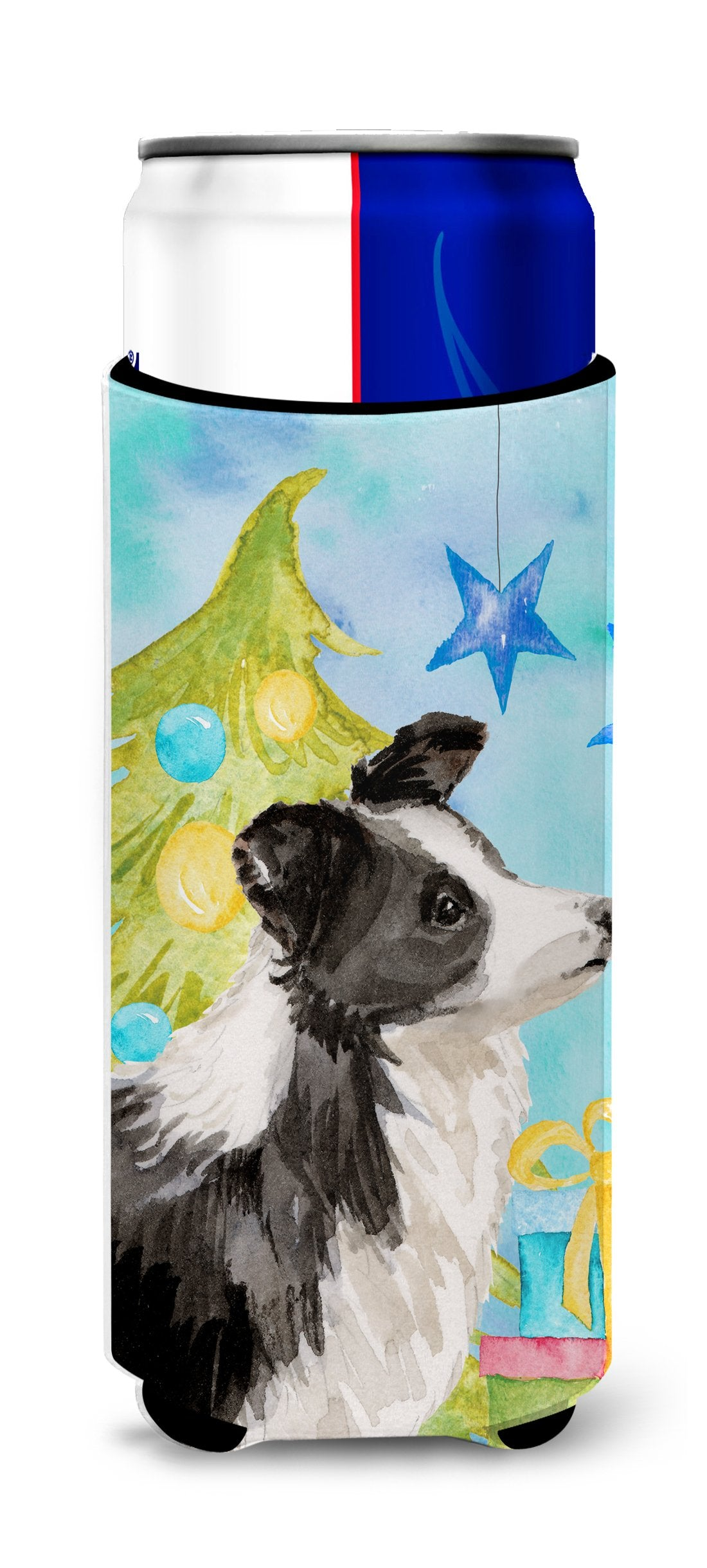 Border Collie Christmas Michelob Ultra Hugger for slim cans BB9408MUK by Caroline's Treasures