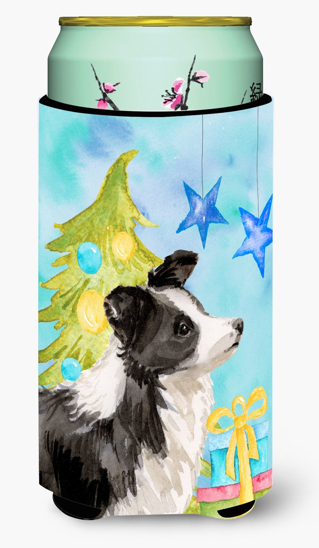 Border Collie Christmas Tall Boy Beverage Insulator Hugger BB9408TBC by Caroline's Treasures