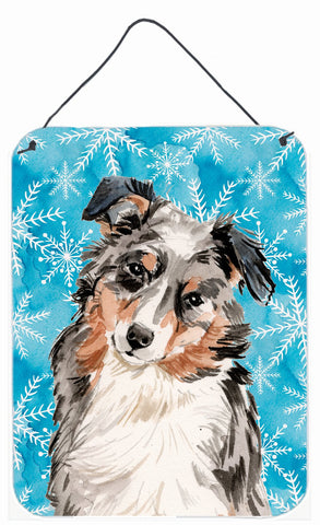 Buy this Australian Shepherd Winter Wall or Door Hanging Prints BB9432DS1216