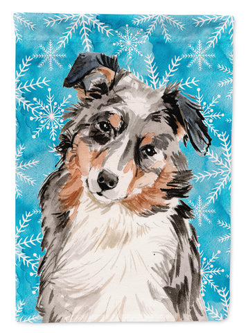 Buy this Australian Shepherd Winter Flag Garden Size BB9432GF