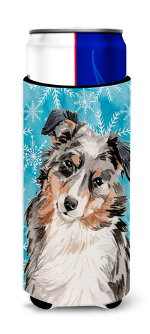 Buy this Australian Shepherd Winter Michelob Ultra Hugger for slim cans BB9432MUK
