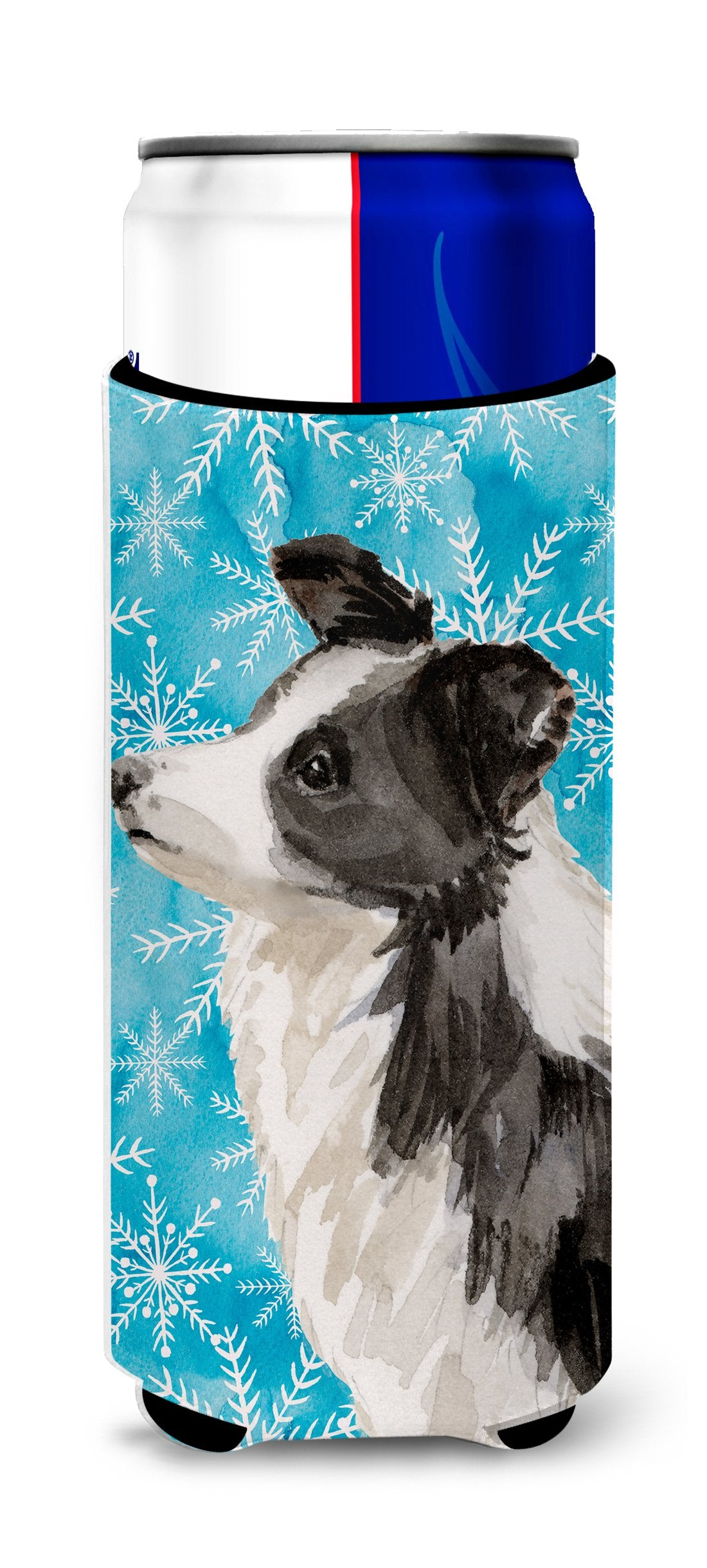 Border Collie Winter Michelob Ultra Hugger for slim cans BB9443MUK by Caroline's Treasures
